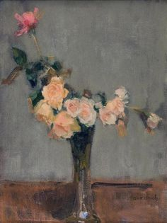 Isaac Israëls (1865-1934) - Roses in a Glass Vase
