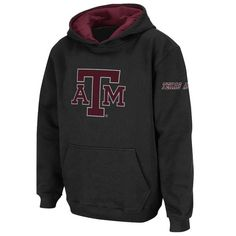 Texas A&M Aggies Youth Big Logo Pullover Hoodie - Black