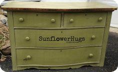 SunflowerHugs: Bayberry Green Milk Paint