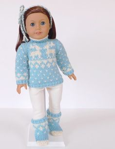Doll clothes knitting pattern PDF for 18 inch by DBDollPatterns, $7.00