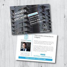 Postcard design for Calgary condo REALTOR   Direct mail marketing   Real estate marketing