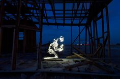 Darren Pearson's LED art: A skeleton holding a key created using a 121 second exposure Types Of Photography, Light Photography, Twin Photos, Best Friend Pictures, Light Painting, Light Art, Photo Editing, Led, Skeleton