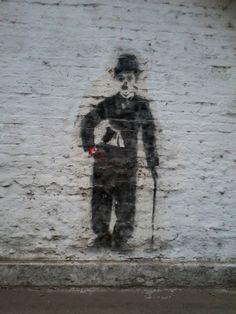 Chaplin. Stencil en San Miguel de Tucumán, Argentina.