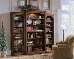 Shop for the Hooker Furniture Brookhaven Open Bookcase at Suburban Furniture - Your Succasunna, Randolph, Morristown, Northern New Jersey Furniture & Mattress Store Bookcase Wall Unit, Open Bookcase, Bookshelves, Bedroom Bookcase, Black Bookcase, Bookshelf Ideas, Hooker Furniture, Home Office Furniture, Howell Furniture