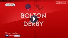 Video: Bolton Wanderers vs Derby County Highlights and All Goals Online - Sky Bet Championship - 19 August 2017 - FootballVideoHighlights.com. You are...