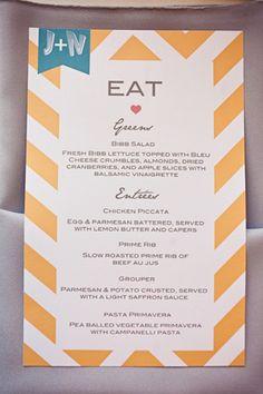 adorable menu!!
