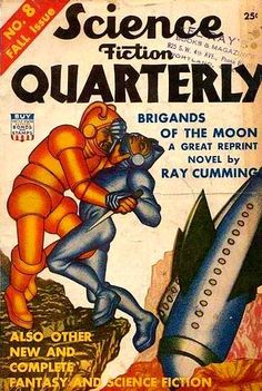Science Fiction Quarterly (Fall 1942), cover by Hannes Bok