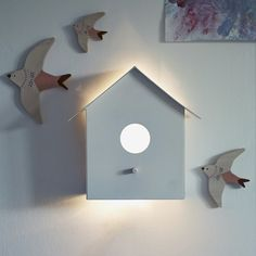 Hallie Bird House Wall Light
