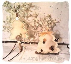 #Alberi di #Natale #Shabby, by Laura Idee Creative, 5,00 € su #misshobby.com