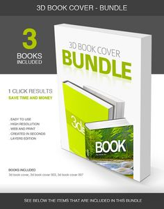 3D Book Cover  Bundle — Layered PSD #book mock-up #cover mock-up • Available here → https://graphicriver.net/item/3d-book-cover-bundle/5423283?ref=pxcr