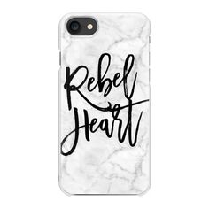 Marble - Rebel Heart Quote - iPhone 7 Case And Cover ($35) ❤ liked on Polyvore featuring accessories, tech accessories, phone cases, phones, electronics, cases, iphone case, apple iphone case, slim iphone case and iphone cases