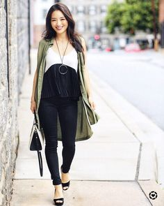 Kimberly Kong carries The Strathberry Midi Tote Bi-Colour in Vanilla/Black