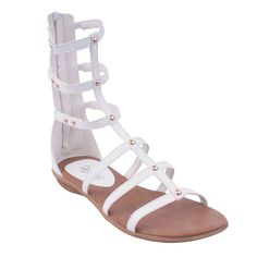 Refresh Vegas-01 Women`S Gladiator Ankle Bootie Strap Sandals,White,6 ** You will love this! More info here : Gladiator sandals