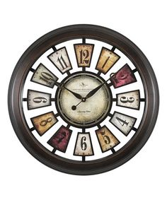 Loving this Numeral Plaques Wall Clock on #zulily! #zulilyfinds