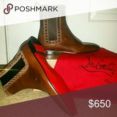 louboutin studded mens shoes - Christian Louboutin Booties Comes with box, soles needed to be ...