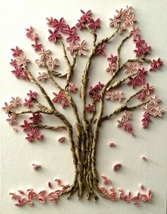 Cherry Blossom quilling