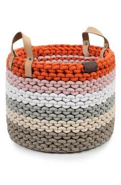 Knit Basket, Rope Basket, Basket Decoration, Cotton Rope, Vintage Fabrics, Baby Knitting, Straw Bag, Hand Weaving, Nordstrom