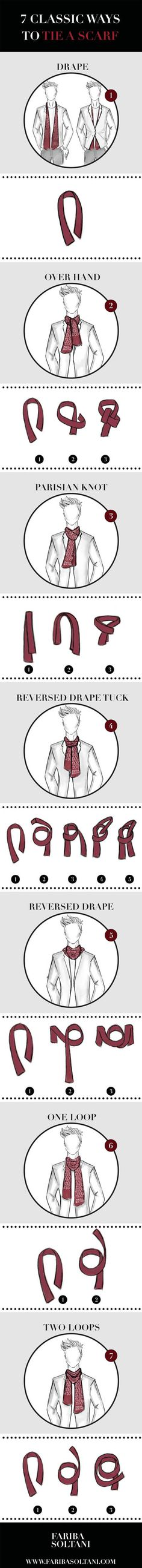 This infographic is aimed to answer the question we received from many people as how to tie a scarf. We decided to create an infographic to show step by step how to style your scarf in 7 different ways.