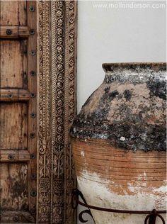 Raw stone pot. Beauty
