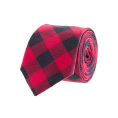 Buffalo check cotton tie