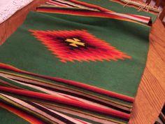 Vintage Wool Table Runner, Wall Hanging, Navaho, Serape Southwest Decor, Rustic…