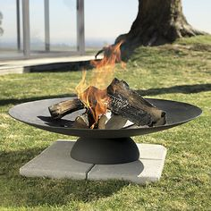 CB2\u0027s Circular Iron Burner is Perfect for Modern Patio Spaces #backyard trendhunter.com Large & 246 best Relaxing Outdoor Furniture images on Pinterest | Outdoor ...