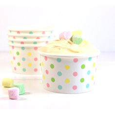 SAMBELLINA ICE CREAM CUPS - PASTEL POLKA DOT - Simply Sweet Soirees