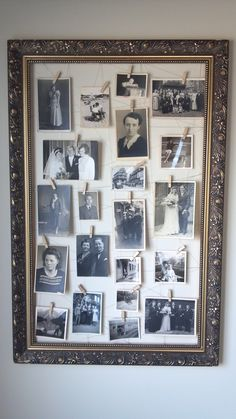 vintage frame + old family pictures = <3