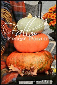 Fall front porch decor.