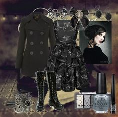 """""""Gothic Prom #2: Fall For You~ Secondhand Serenade"""" by crystalline-switchblade ❤ liked on Polyvore"""