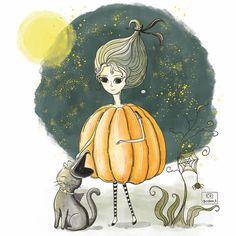 "Halloween 56 Beğenme, 4 Yorum - Instagram'da Çiğdem Kurt (@cidem_k): ""Halloween  #illustration #artwork #characterdesign #art #artist #artoftheday #sketch…"""