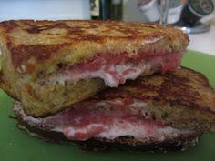 Raspberry Cheesecake Stuffed French Toast!