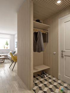 Интерьер в скандинавском стиле, светлая квартира фото, интерьер прихожей