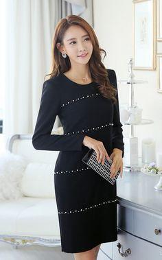 Pearled Line Slim Dress -- $ 87.61