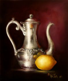 Art Apprentice Online Store - Acrylic - Still Life - Painting Silver Metal with Instructor Susan Abdella, $19.95 (http://store.artapprenticeonline.com/acrylic-still-life-painting-silver-metal-with-instructor-susan-abdella/)
