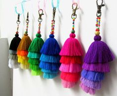Tassel Stack Keychain Layered Tassel Keyring Jazzy Tassel Key Holder Tassel Colorful Purse Charm Wholesale Tassels Gift for Her Our new design of Bling Bling tassel keychains in assorted tassels which have been handcrafted in coordinated colors. These can also be added to your favorite