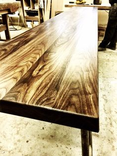 dk3_design_furniture... And this is a close up of a walnut plank at the carpentry for the LOWLIGHT TABLE... True aesthetics... #dk3 #lowlighttable #jacobplejdrup #madeindenmark #trueaesthetics #walnut www.dk3.dk