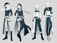 Pin by noir konya on inspiration stuff in 2019 Fashion Design Drawings, Fashion Sketches, Cosplay Outfits, Anime Outfits, Character Outfits, Character Art, Punk Guys, Vetements Clothing, Paper Dolls Clothing
