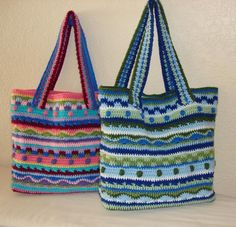 (4) Name: 'Crocheting : The Katie Tote