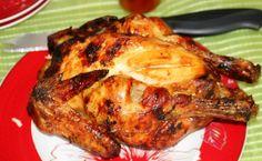 poulet rôti au beurre de tomate.