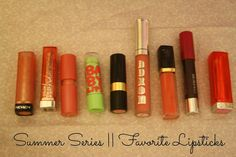 summer series #summer #makeup Summer Makeup, No Time For Me, Lipstick, My Favorite Things, Lipsticks, Rouge
