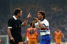 Roberto Mancini, en la final de Champions Barcelona 1-0 Sampdoria (1992)
