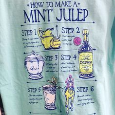 NEW t-shirts have arrived just in time for Derby Festivities! Knowing how to make a Mint Julep is a must!  #derby #kentucky #mintjulep #shoplocalky #thefrontporchky by thefrontporchky