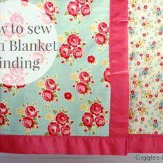 How to Sew Satin Blanket Binding {Tutorial}