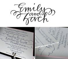 so sweet ---loving the string calligraphy