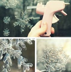 Image about cute in DIY by Julia on We Heart It Christmas Crafts, Xmas, Most Beautiful Images, Glue Gun, Fun Crafts, Snowflakes, We Heart It, Create, Handmade
