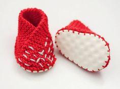 Tutoriel DIY: Tricoter des chaussons pour bébé via DaWanda.com