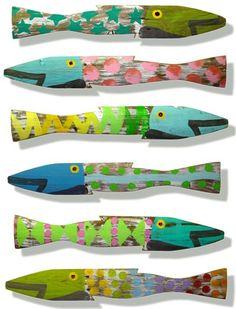Wood fish designs