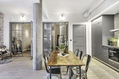 A unique loft with industrial elements in Stockholm, Sweden, by Celon