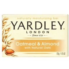 Yardley of London Naturally Moisturizing Bar Soap Oatmeal & Almond. Use it on sensitive skin, excema, rashes, acne...